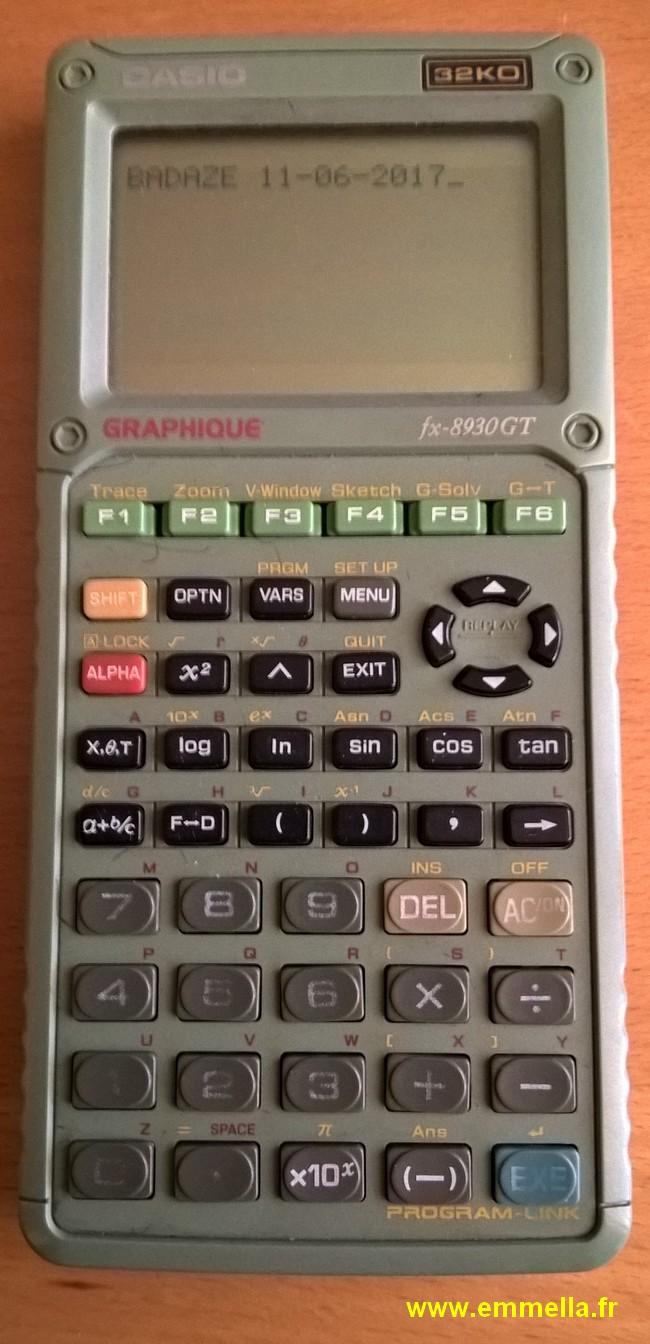 Casio FX 8930GT