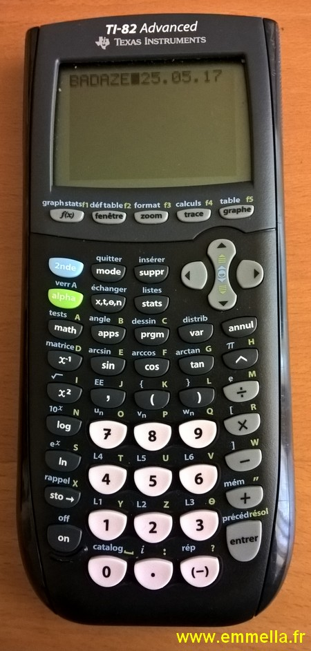 Texas Instruments TI 82 Advanced