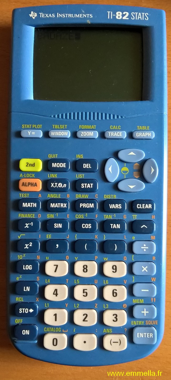 Texas Instruments TI 82 STATS