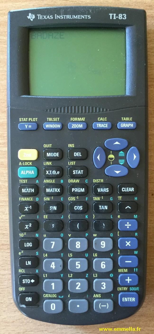 Texas Instruments TI 83