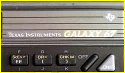 Texas Instruments TI 67 Galaxy