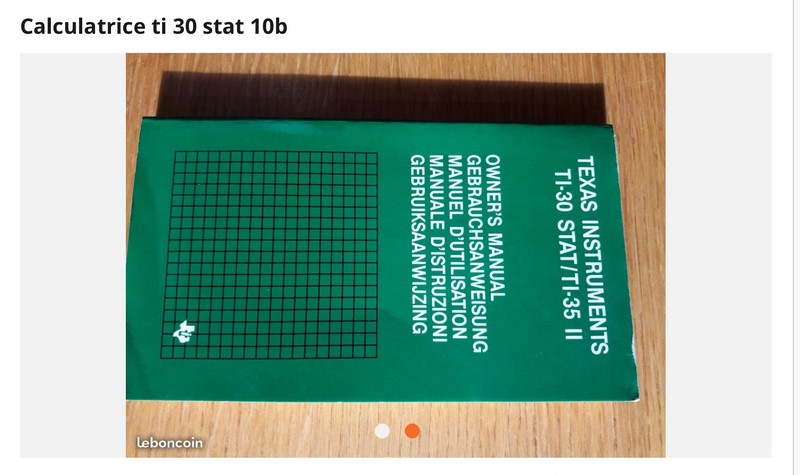 Texas Instruments TI 30 Stat 10B