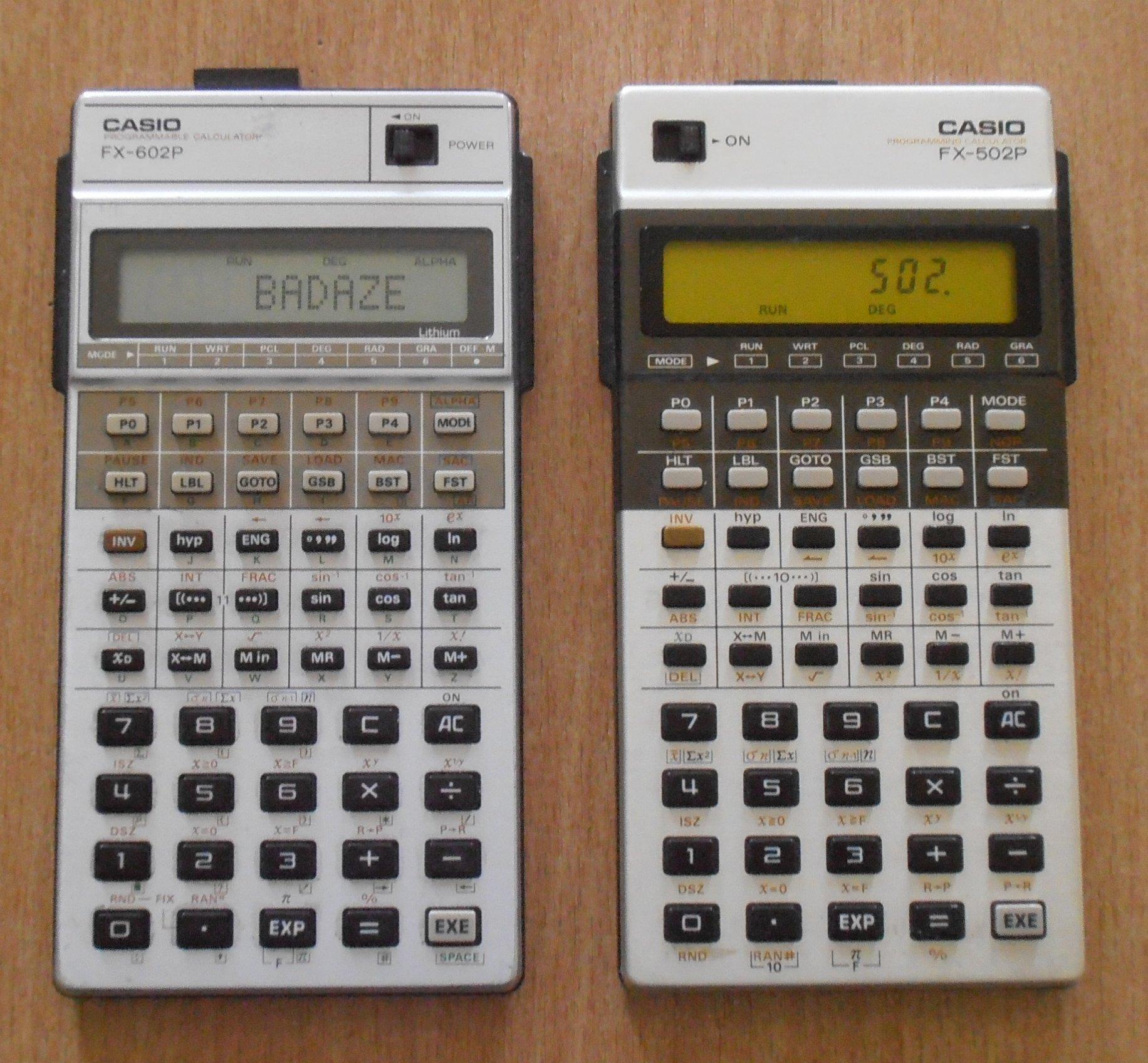 FX-602P et FX-502P