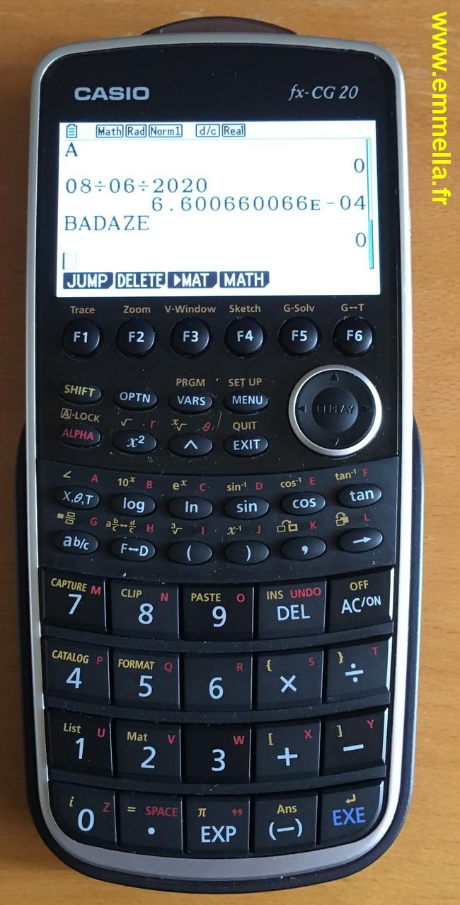Casio fx-CG 20
