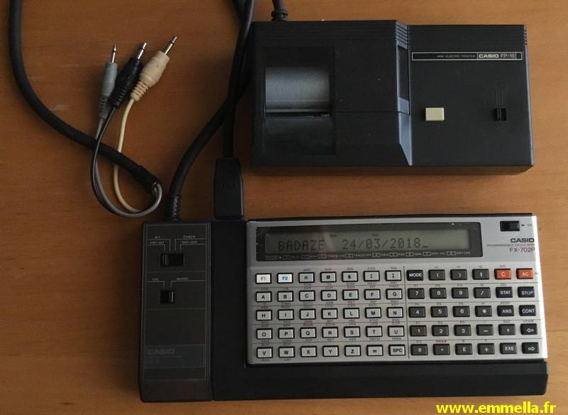 Casio FX-702P + Casio FA-2 + Casio FP-10