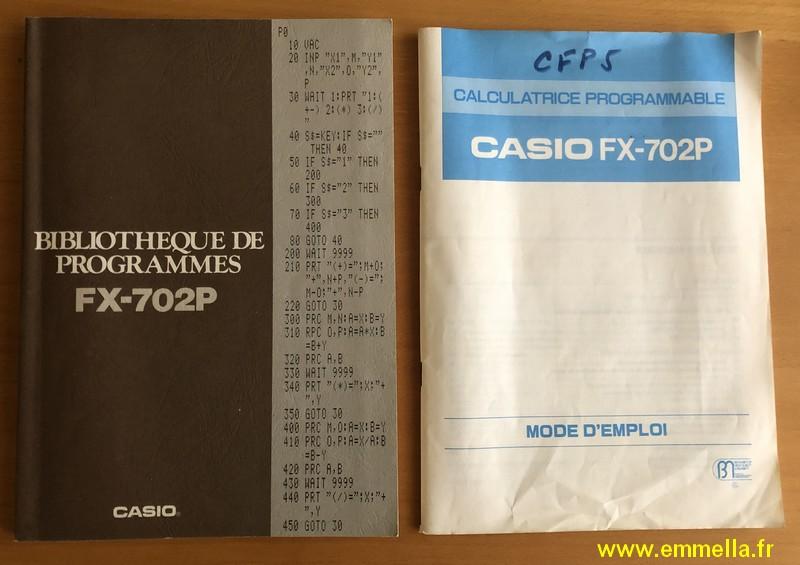 Documentation Casio FX-702P