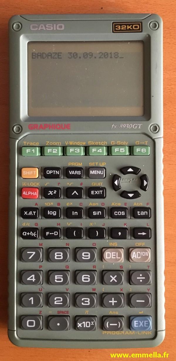 Casio FX-8930GT