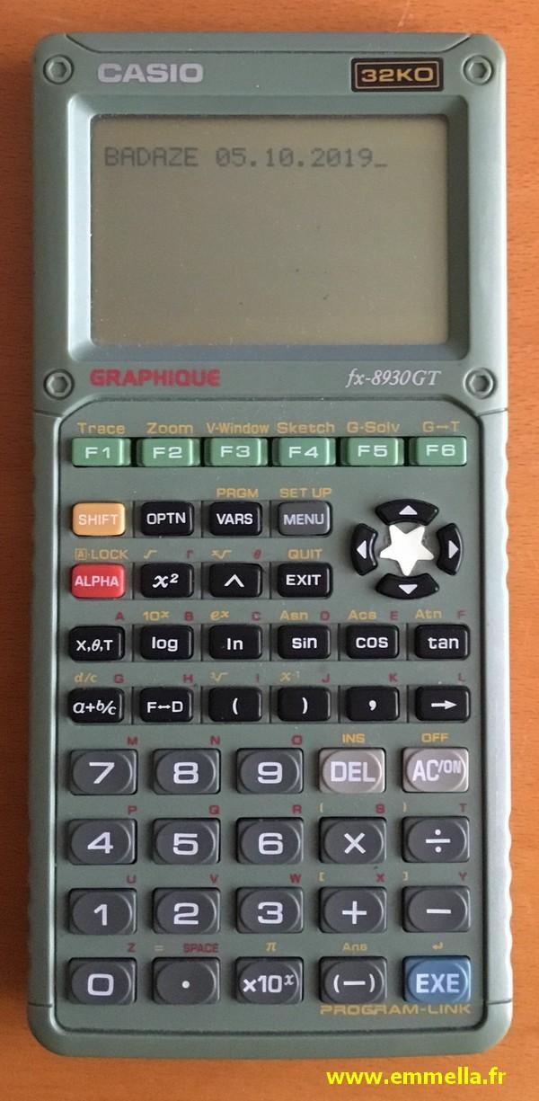 Casio FX 8930 GT