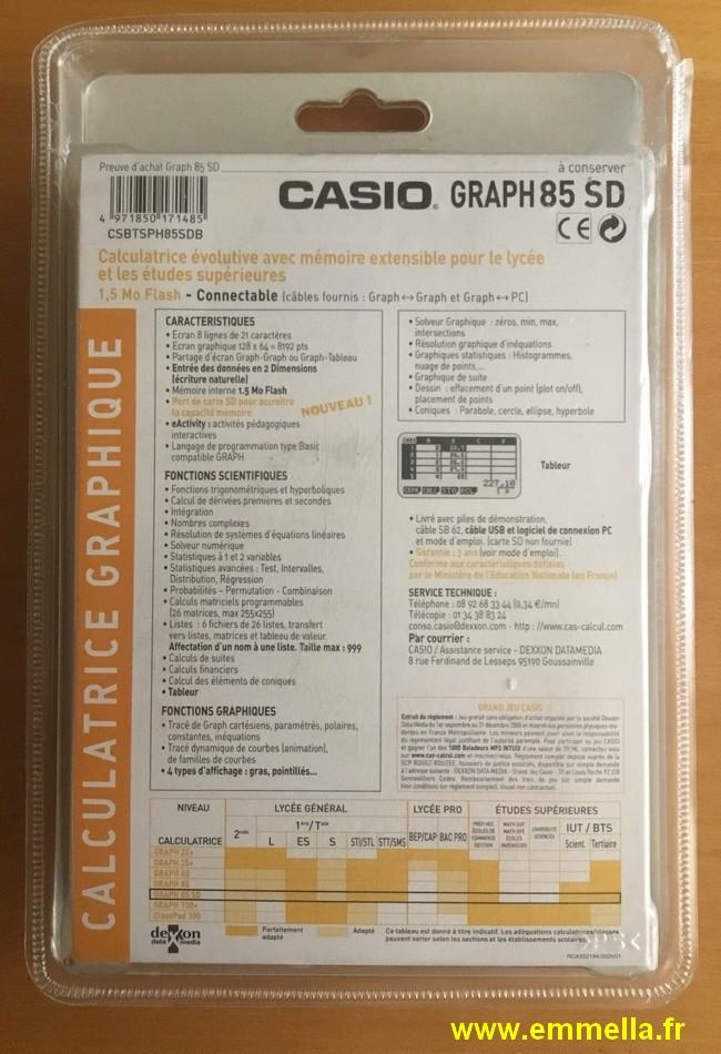 Casio Graph 85 SD