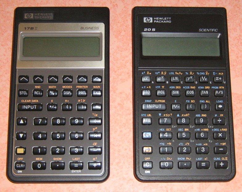HP 17 BII et 20 S