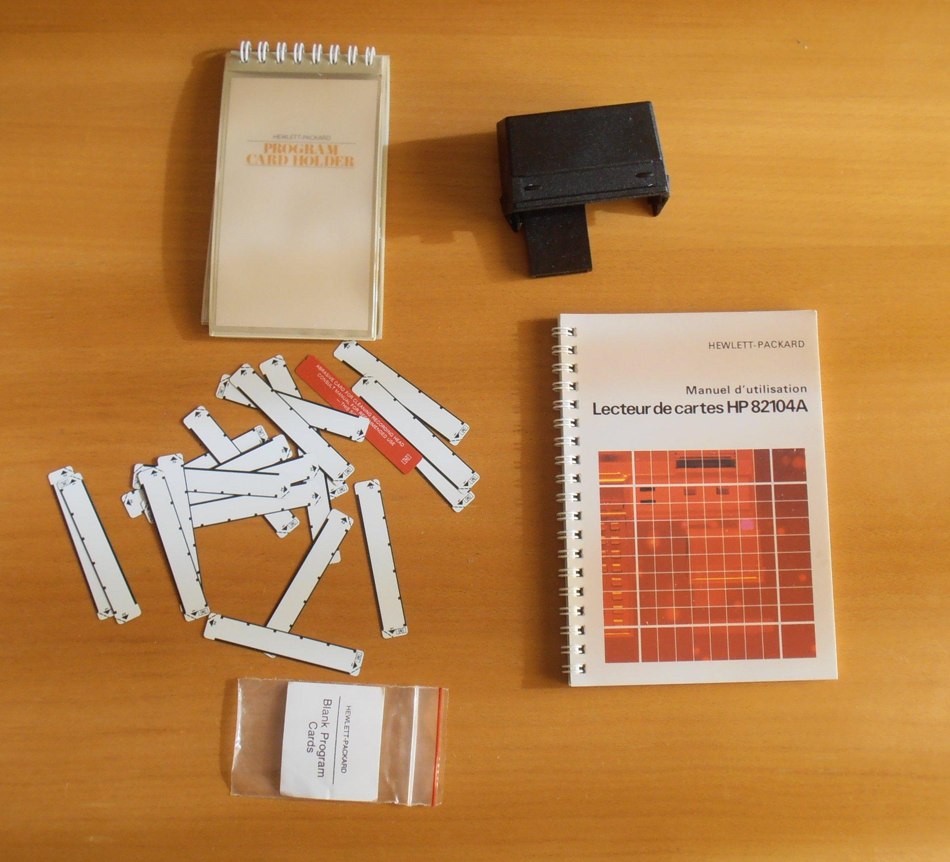HP 41CV lecteur de cartes + cartes