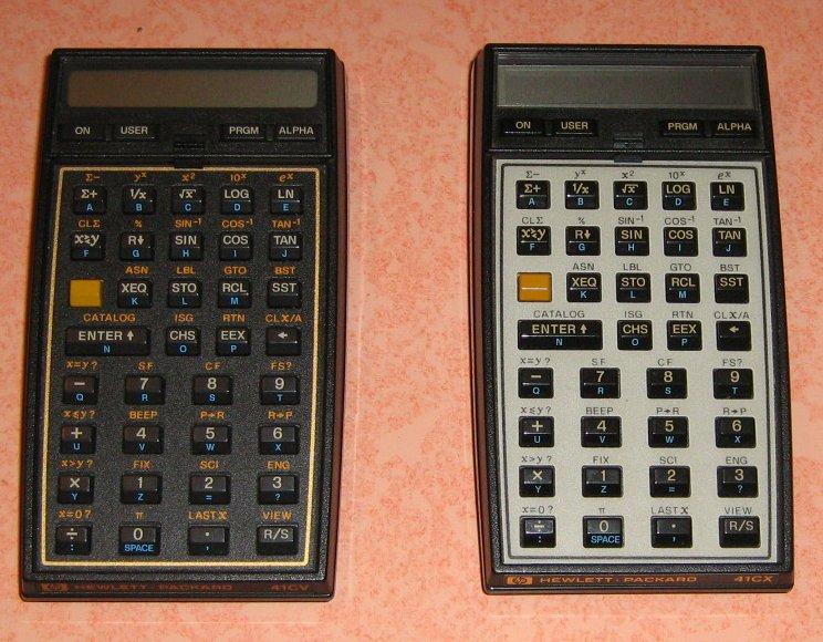 HP 41 CV et CX
