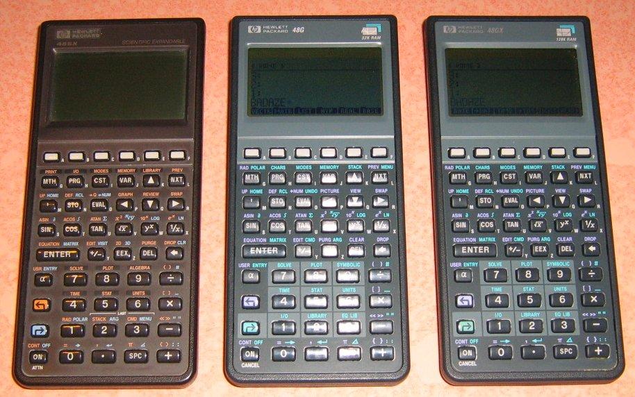 HP 48 SX, HP 48G et HP 48 GX