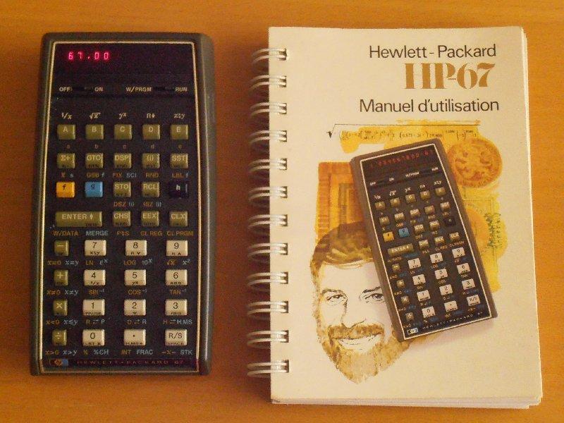HP 67 & son manuel