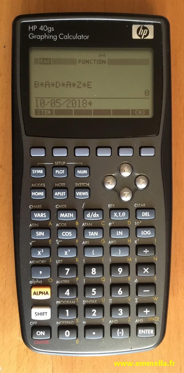 Hewlett-Packard HP-40GS