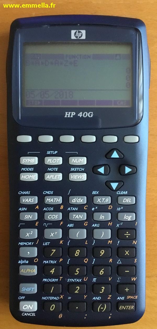 Hewlett-Packard HP-40G