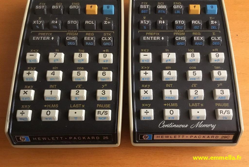Hewlett Packard HP-25 & 29C