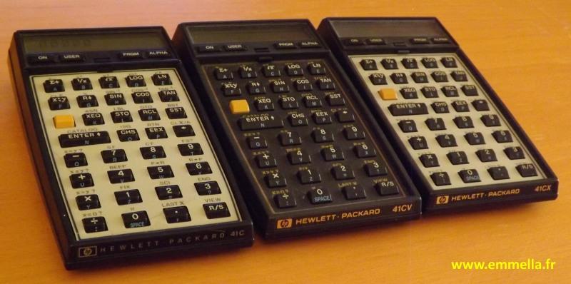 HP 41 C, HP 41 CV et HP 41 CX