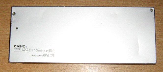 Casio FX-850P verso