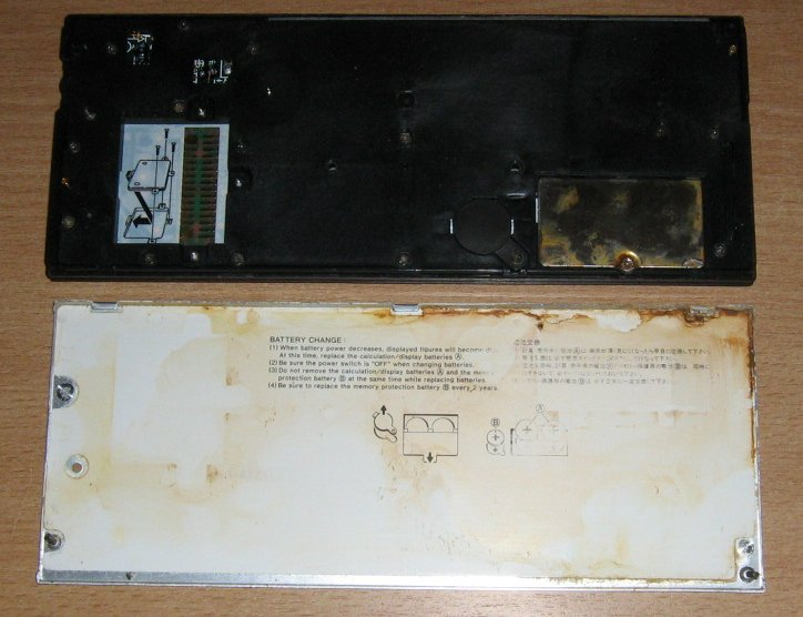 Casio fx-850P intérieur