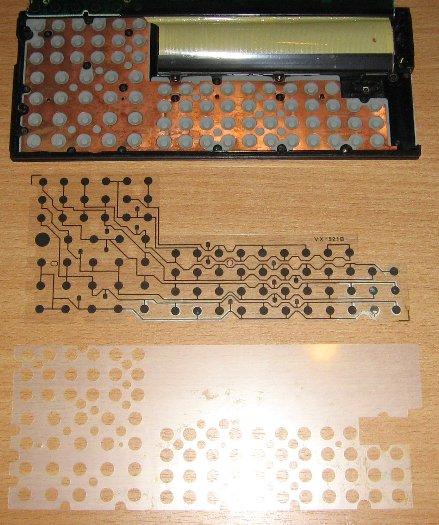 Casio FX-850P - détail des éléments du clavier