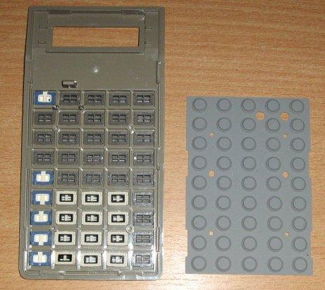TI 57 II - clavier vu de dedans
