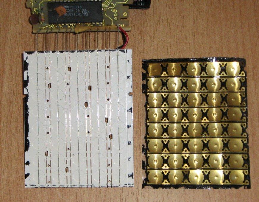 TI 57 intérieur clavier
