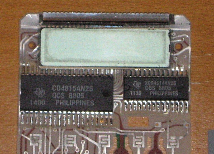 TI 60 - détail affichage