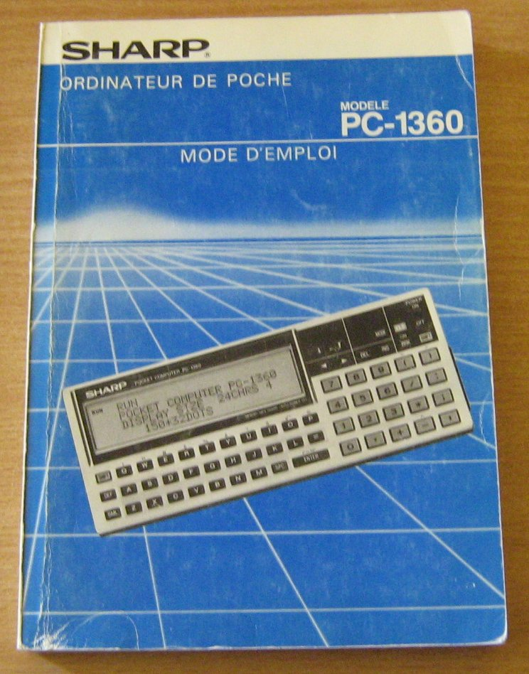 Mode d'emploi du Sharp PC 1360
