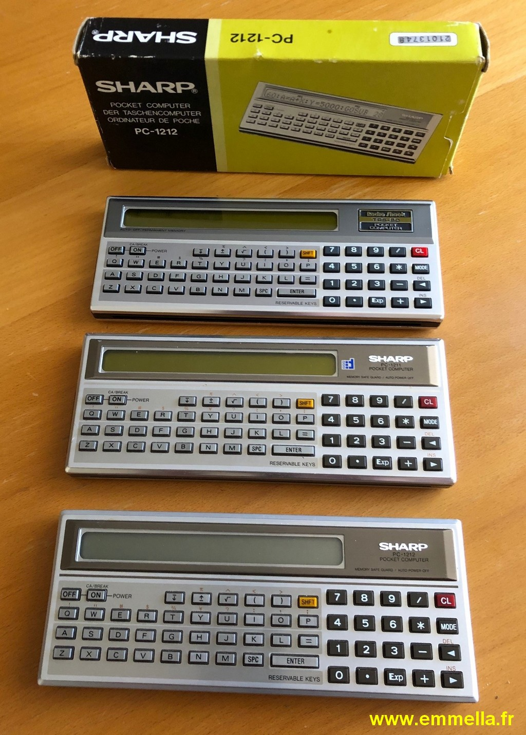 Sharp PC-1211, PC-1212 et TANDY PC1