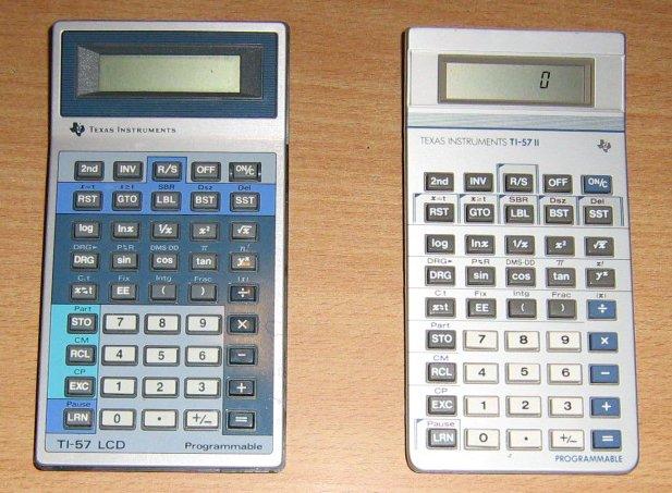 TI 57 LCD et TI 57 II