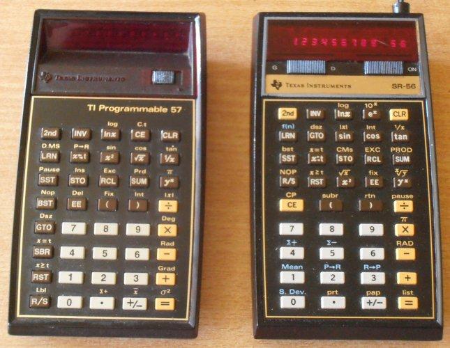 TI 57 et TI SR 56