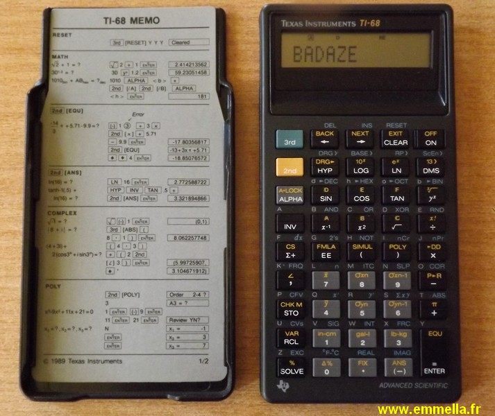 Texas Instruments TI-68