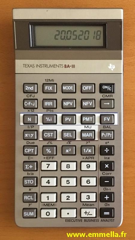 Texas Instruments BA III
