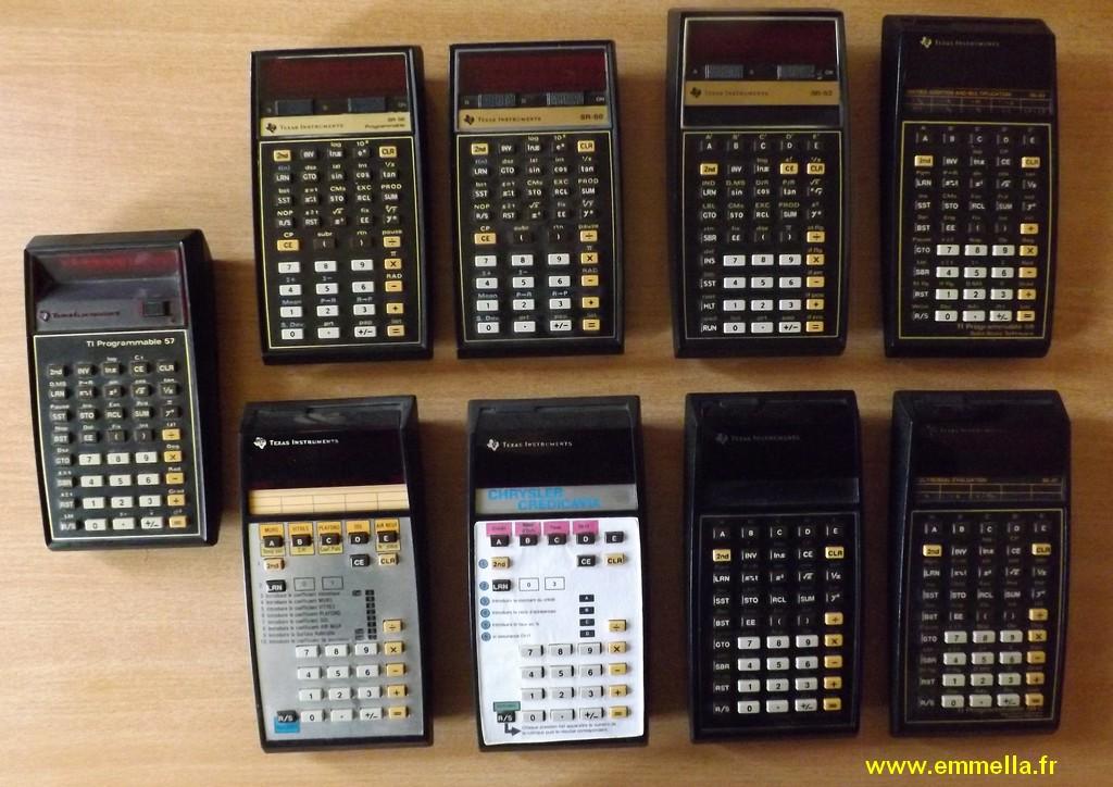 Texas Instruments SR-52 SR-56 TI 57, 58 et 59