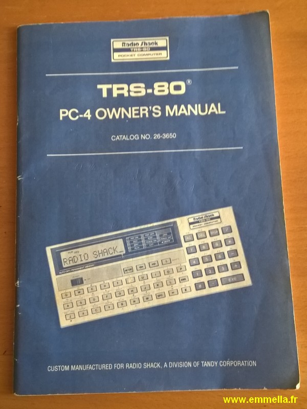 Tandy Radio Shack TRS-80 PC-4