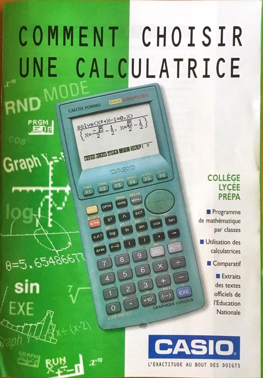 Catalogue Casio circa 2000