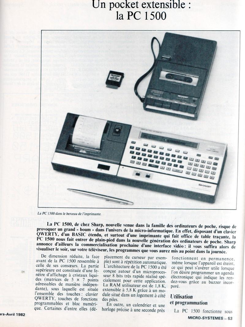 Un pocket extensible : la PC 1500