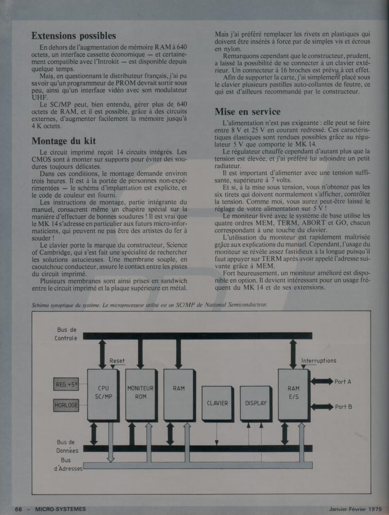 Micro-Systèmes n°3 - Kit d'initiation MK 14