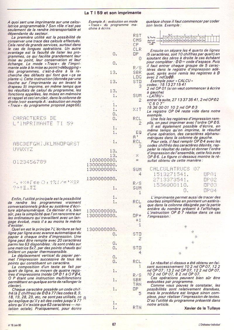 TI 59 - donnez des lettres à votre calculatrice