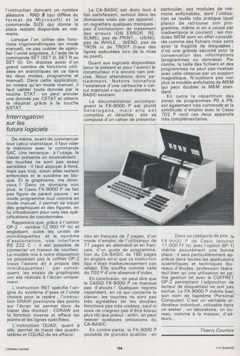 Le Casio FX-9000P