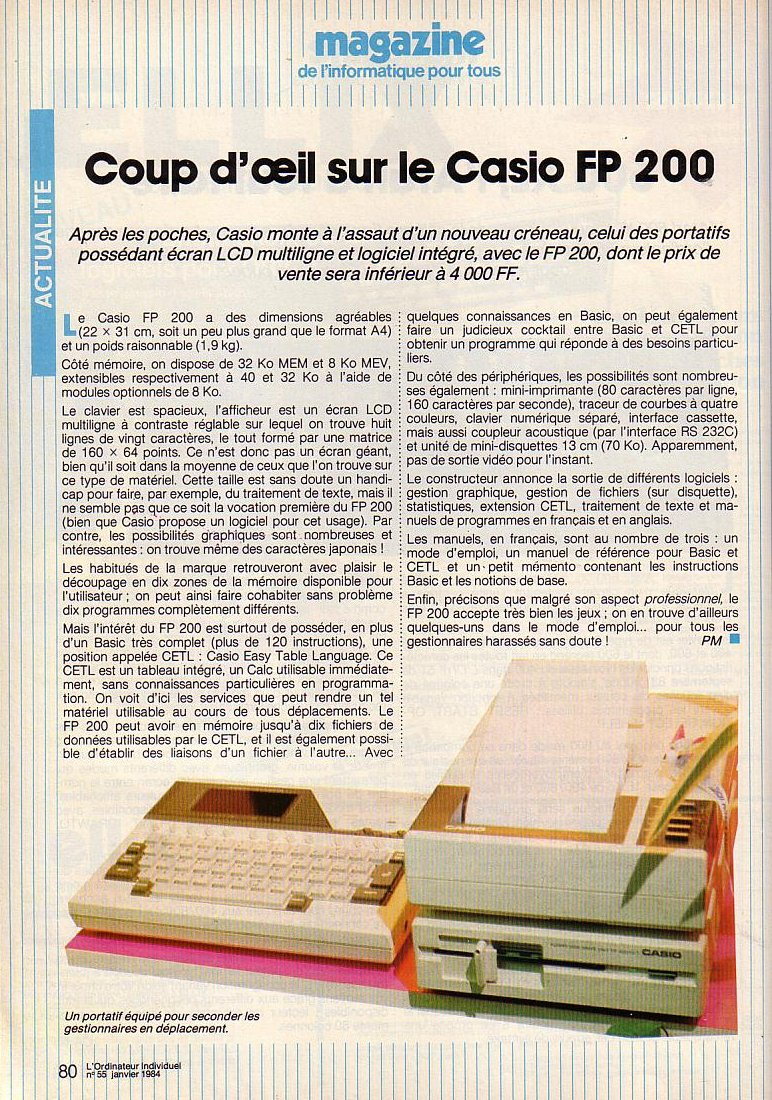 Casio FP-200