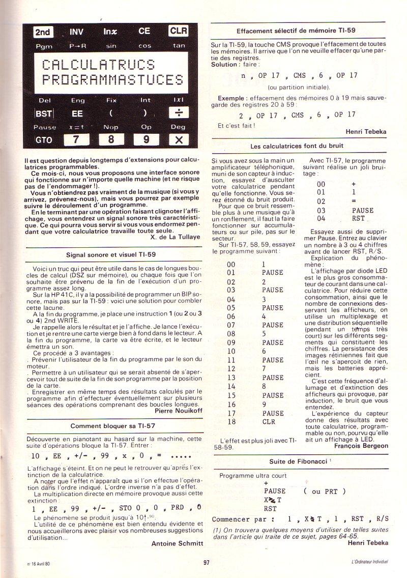 Texas Instruments TI 57