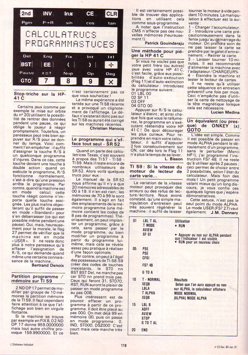 Texas Instruments TI SR 52
