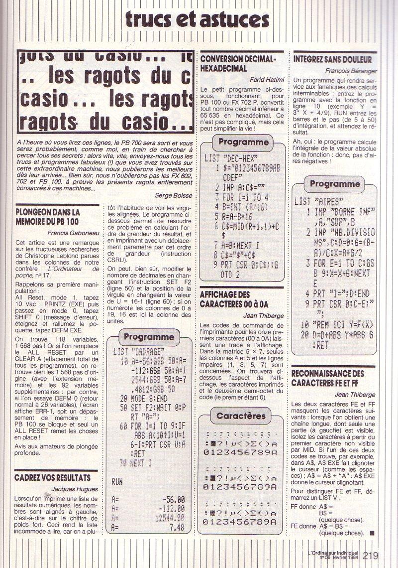 Casio PB 100